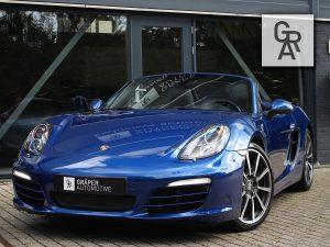 Porsche Boxster 2.7 PDK blauw leder zwart 2013